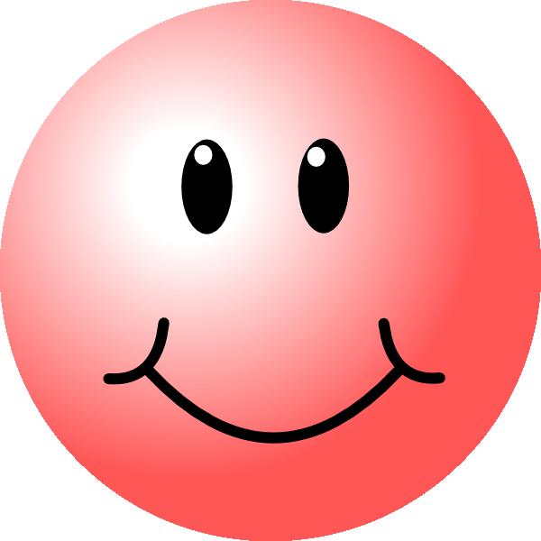Pink Smiley Face Clip Art at Clkercom  vector clip art