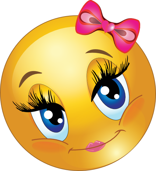 Cute Lovely Girl Smiley Emoticon Clipart  i2Clipart