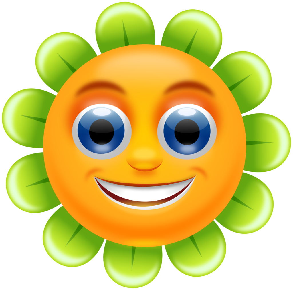 Flower Smiley Face  Free download on ClipArtMag