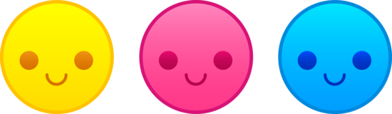 Three Cute Smiley Faces  Free Clip Art
