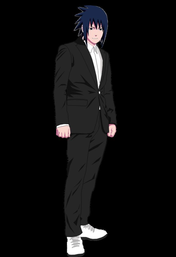 Sasuke Uchiha In Black Suit Render by RendyLJoex on DeviantArt