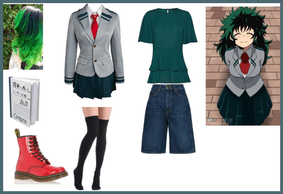 Female izuku midoriya deku My Hero Academia Outfit