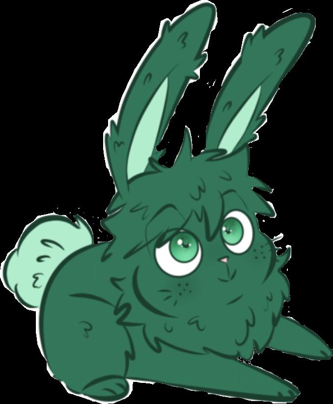 deku bunny cute myheroacademia easter2019 freetoedit