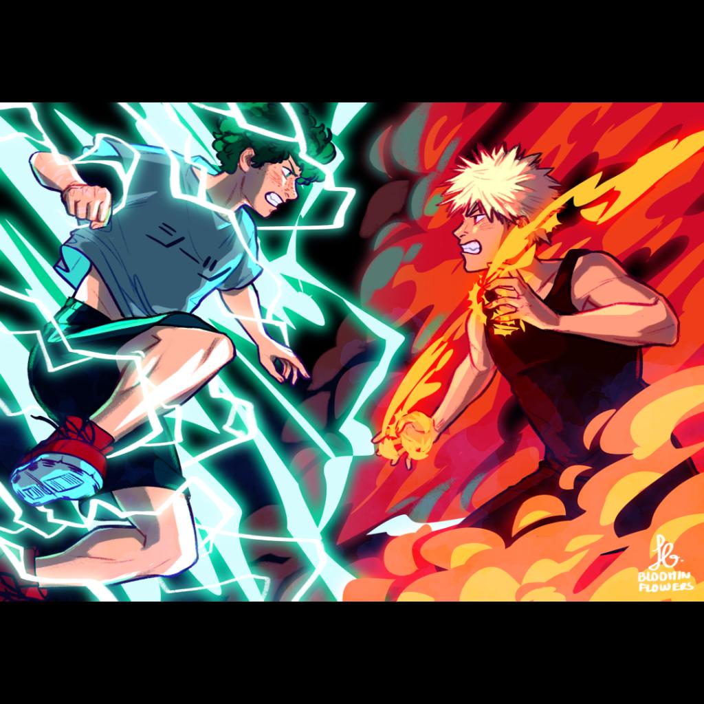 Deku VS Bakugo A5 Print  Anime Read manga online free