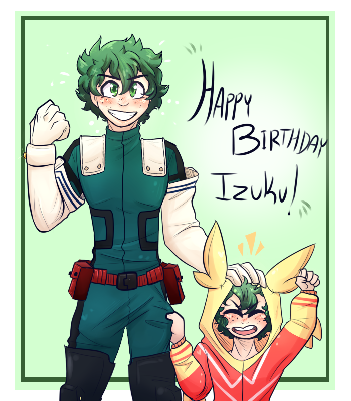 happy birthday deku on Tumblr