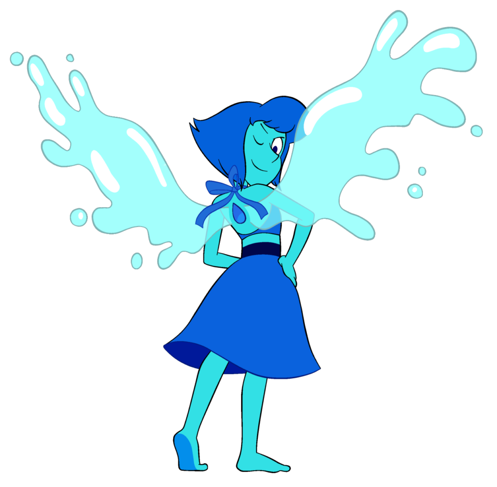 Here is a transparent Lapis Lazuli The New Crystal