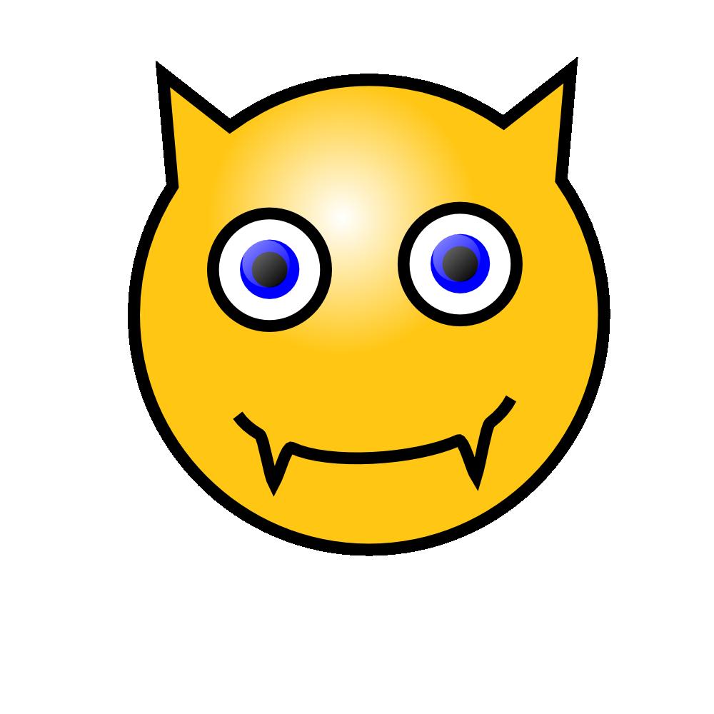 OnlineLabels Clip Art  Emoticons Devil Face