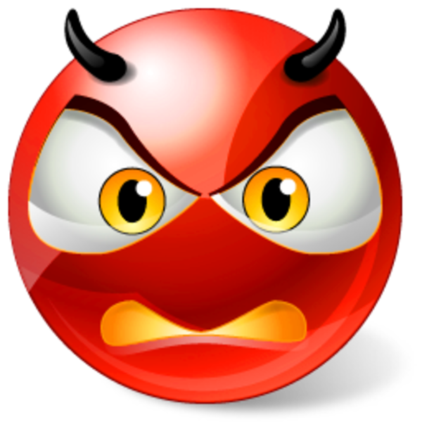 Icons Land Angry Devil Smiley  Free Images at Clkercom