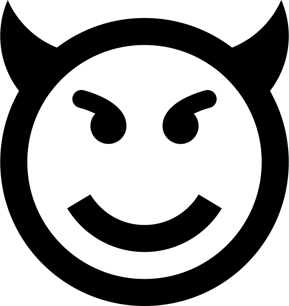 Evil Emoticon Smiley Face Svg Png Icon Free Download
