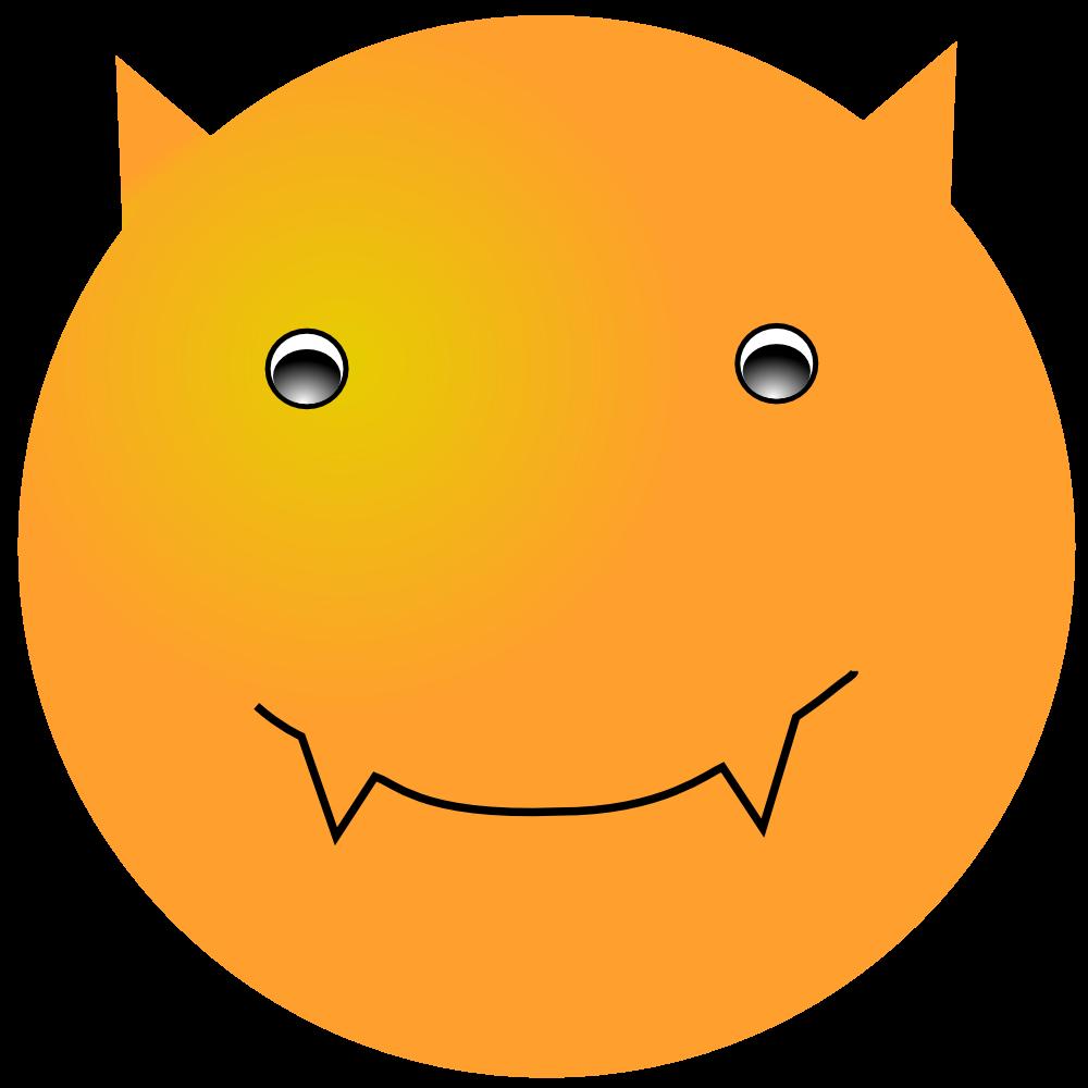 OnlineLabels Clip Art  Smiley Devil