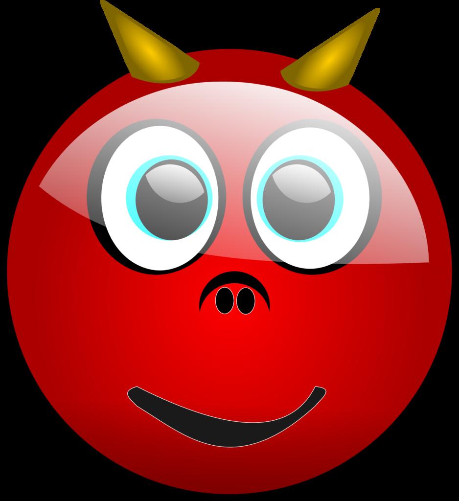 Devil Emoticon  Free Halloween Vector Clipart Illustration