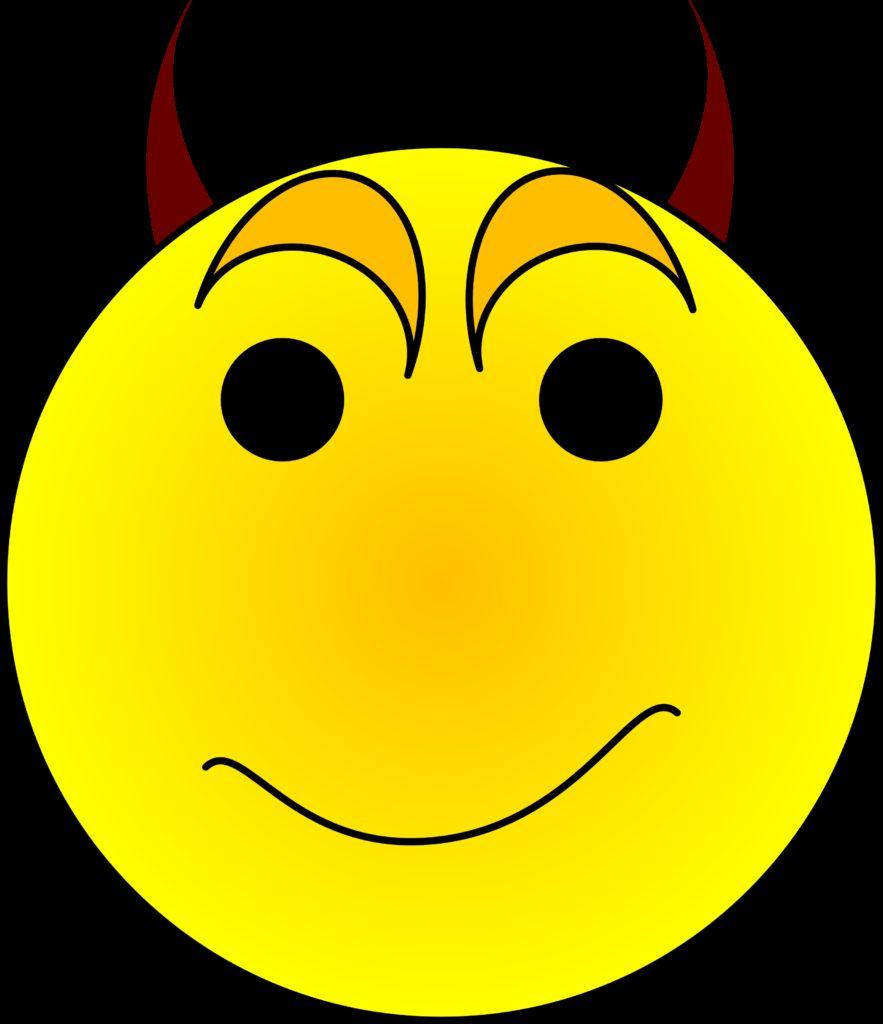 smiley face graphic free  Devil Smiley Face Clip Art