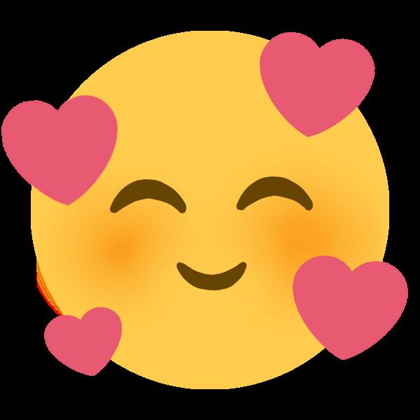 SmilingWithHearts  Discord Emoji