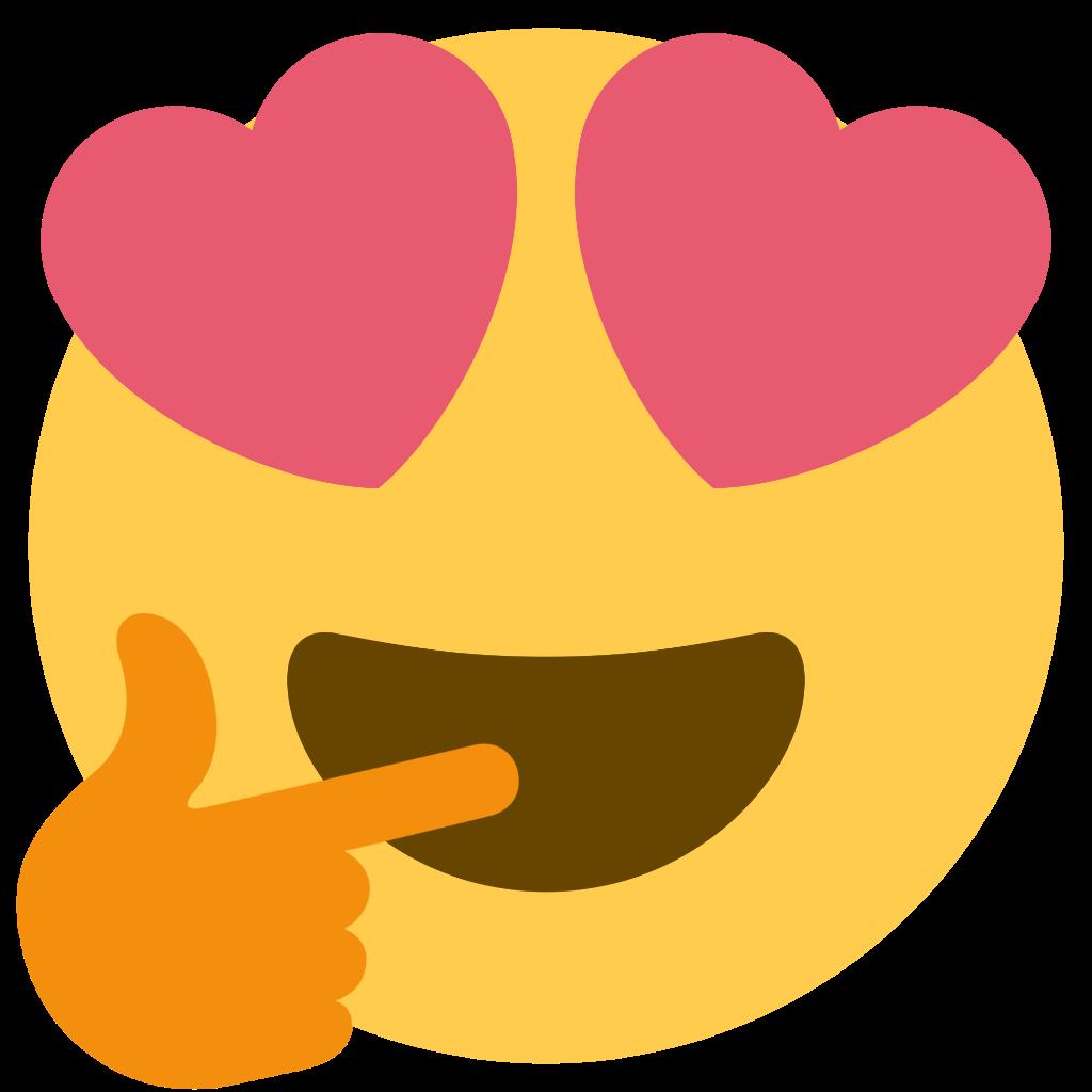 HeartEyesThinking  Discord Emoji