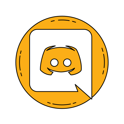 Icône Logo orange la Discorde Gratuit de Famous logos in
