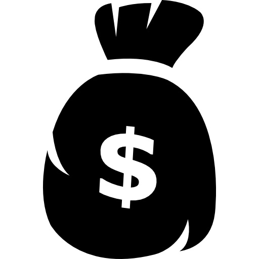 Dollar Sign Bag  Free business icons
