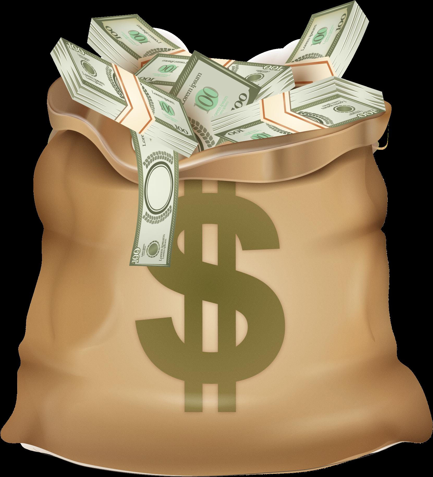 Download HD Money Png Transparent Image - Dollar Sign ... - Dollar Sign Money Bag