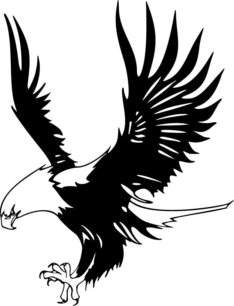 Eagle Clip Art Black and White  Eagle Outline  Cliparts
