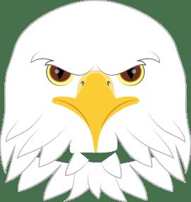 Eagle Face Silhouette Bald eagle face clipart Eagle face