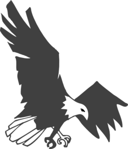 Landing Eagle Clip Art at Clkercom  vector clip art