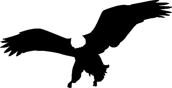 Eagle Landing Silhouette Clip Art Vector Online Royalty