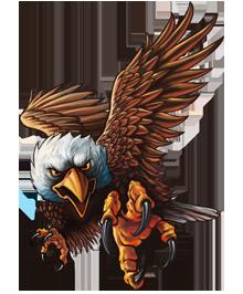 Attacking Eagle Clip Art 19  Gambar serigala Sketsa