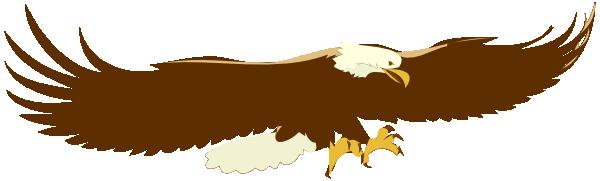 Landing Bald Eagle Clip Art at Clkercom  vector clip art