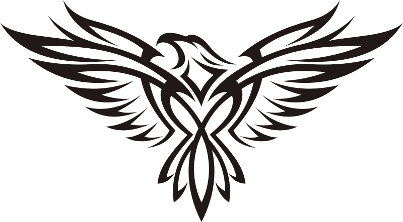 Drawing Eagle Tattoo Clip art  TRIBAL ANIMAL png download
