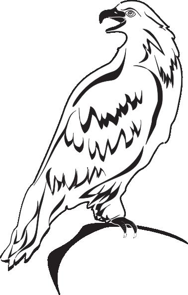 Perched Eagle Outline Clip Art at Clkercom  vector clip