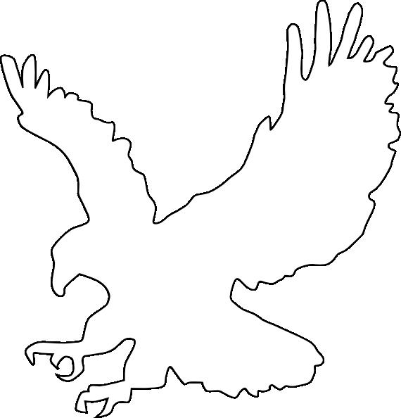 Eagle Outline Clip Art at Clkercom  vector clip art