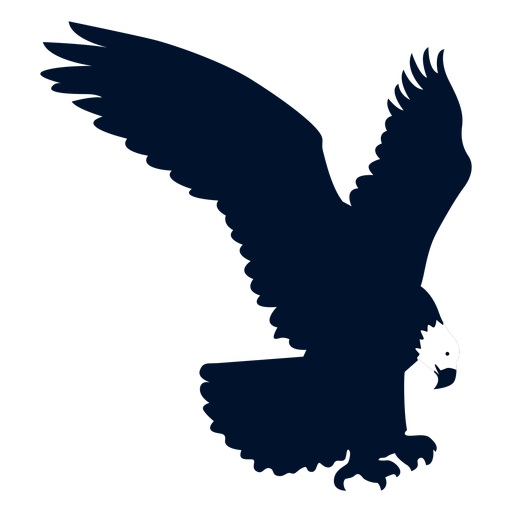 Eagle beak wing silhouette  Transparent PNG  SVG vector file