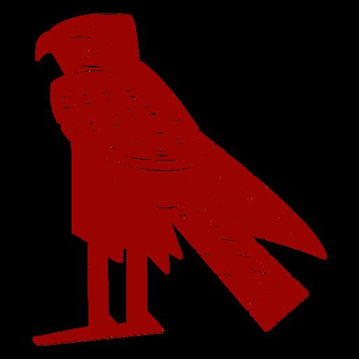 Eagle beak wing talon pattern detailed silhouette