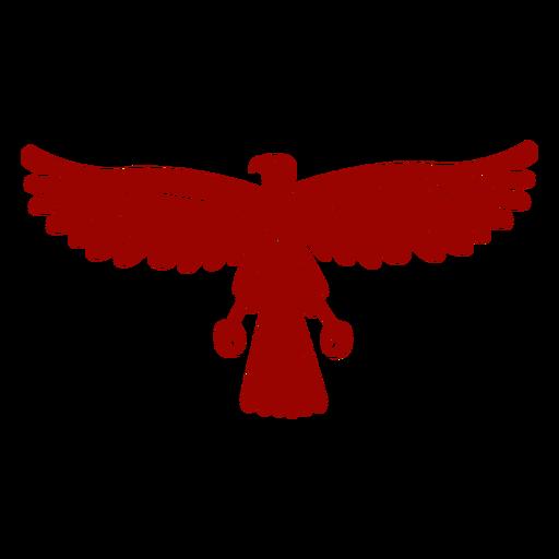 Eagle wing beak talon pattern detailed silhouette bird