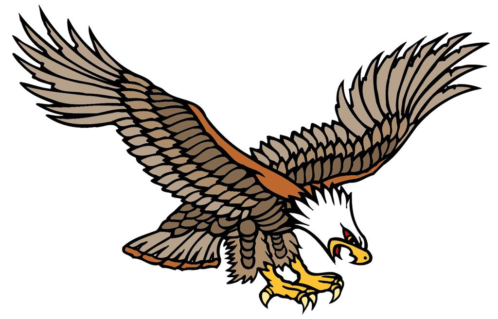 Old school tattoo Bald Eagle Tattoo artist  Flying the