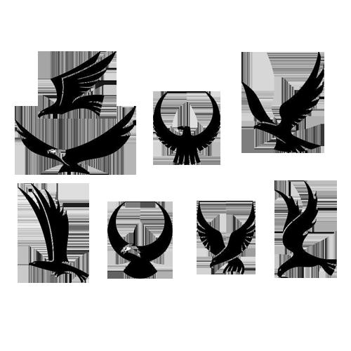 Tattoo Eagle Hawk Falcon  eagle png download  500500