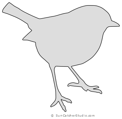 Bird Silhouette Patterns  Print and Download Templates