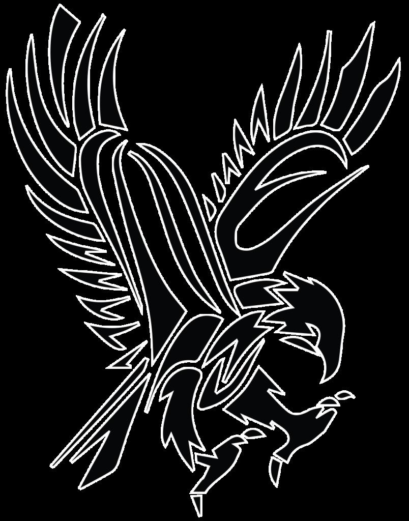 Black Tribal Flying Hawk Tattoo Stencil   Tatuajes