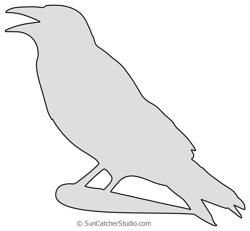 crowsilhouettepatternpng 20001851  Crow silhouette