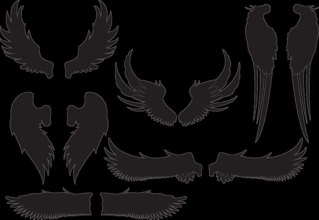 Wings Silhouette at GetDrawings  Free download