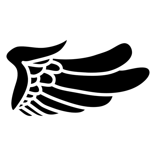 Eagle wing silhouette 03  Transparent PNG  SVG vector file