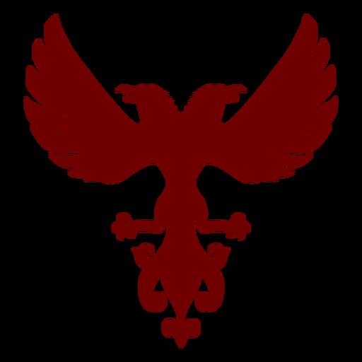 Heraldry emblem eagles silhouette AD  emblem eagles
