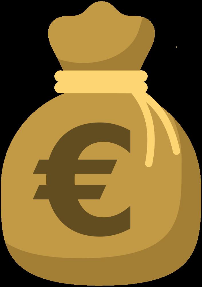 OnlineLabels Clip Art  Moneybag 6 version 4