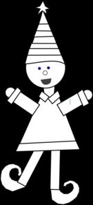 Elf Coloring Book Clip Art at Clkercom  vector clip art