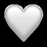 None White Heart Emoji on Emojipedia 120