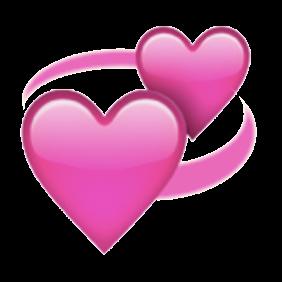 Emoji revolving hearts  made them transparent