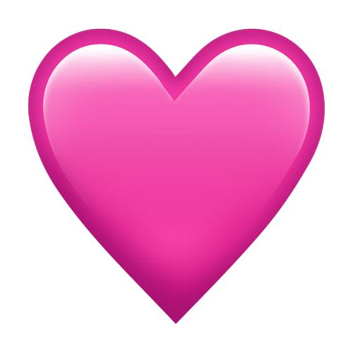 Pink Heart Emoji Png