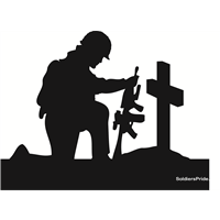 Kneeling Soldiers Salute Yard Signs With images