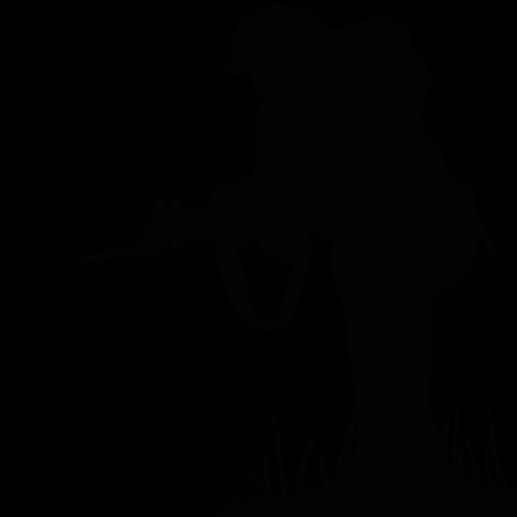 Silhouette Soldier Public domain  sillhouette png