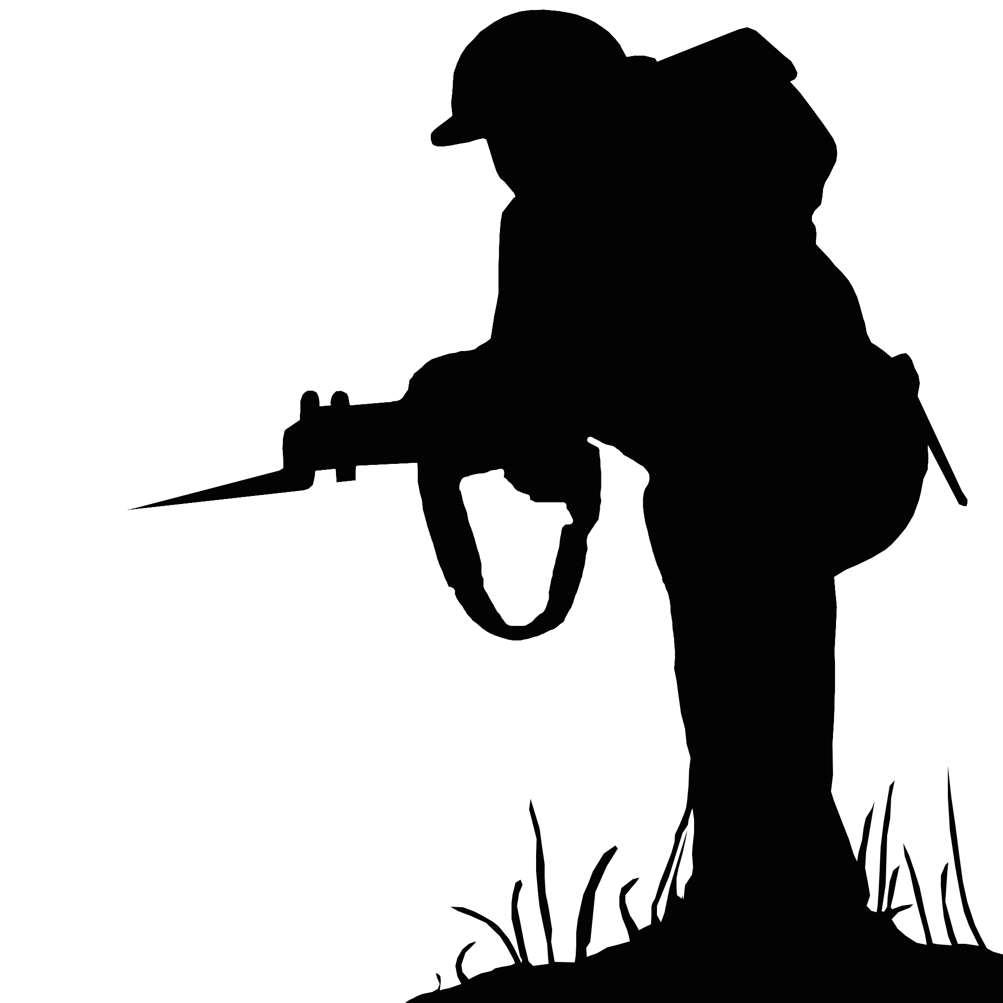 Silhouette Soldier Public domain - sillhouette png ... - Female Soldier Silhouette