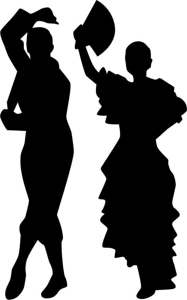 Flamenco Dance Silhouette Female  Silhouette png download